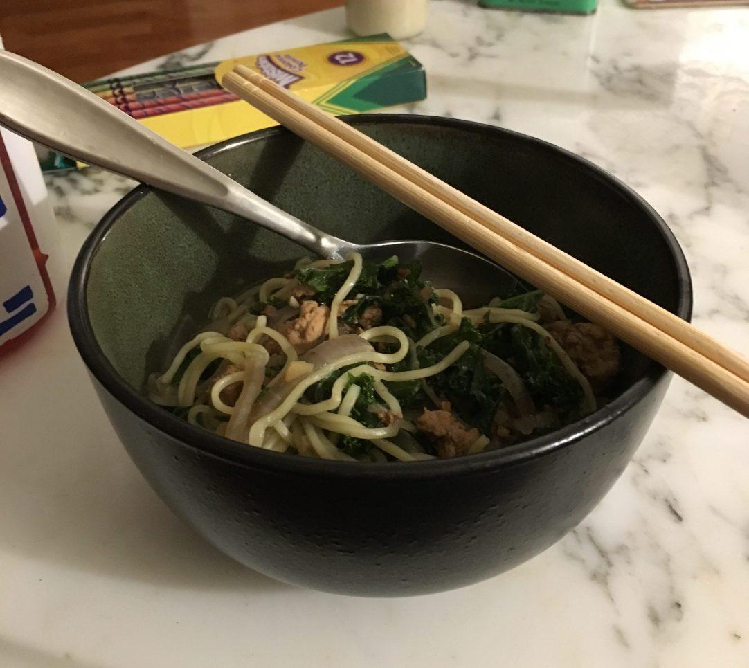 Finished kale soup.