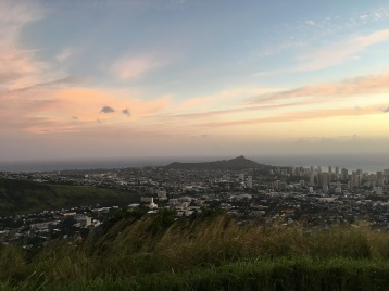 I never got enough of sunset over Diamond Head.